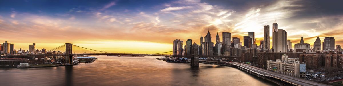 Global aginvesting brooklyn bridge panorama at sunset malvernweather Gallery